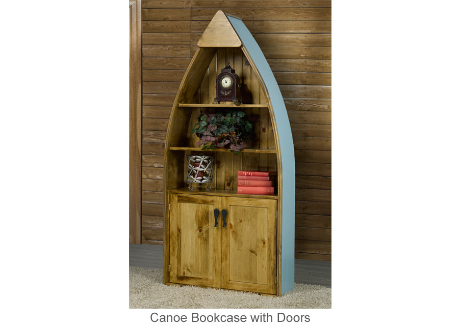 Canoe Bookcase with Doors