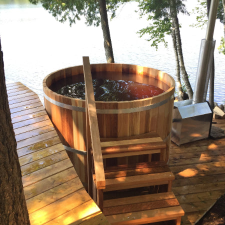 Cedar Hot Tubs by the lake