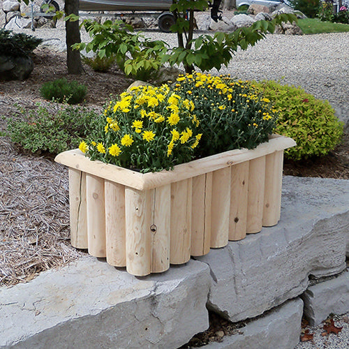 Cedar Log Planter Box