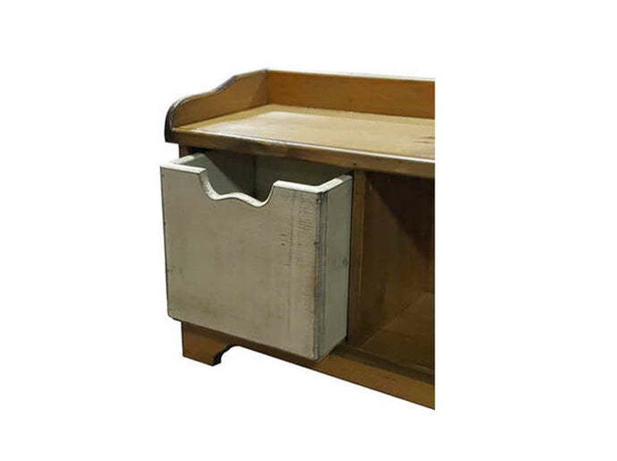 Cubby Bin in Vintage White over Black