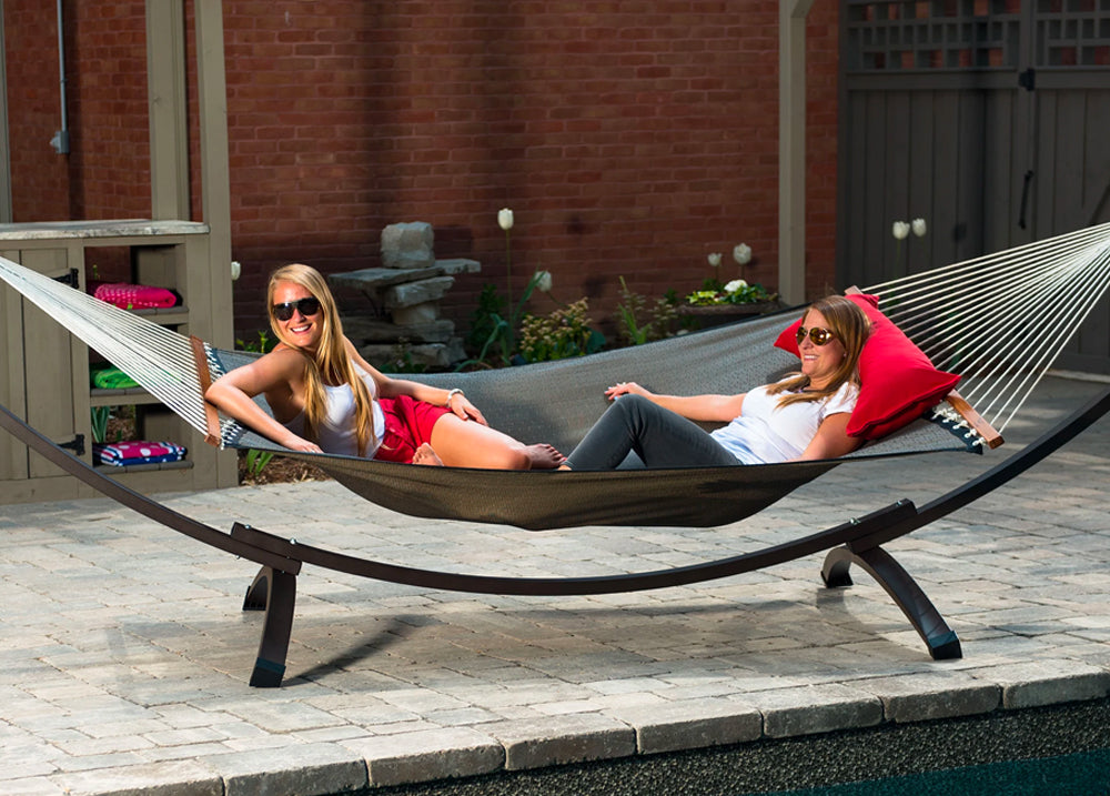 Double Hammock by the Pool