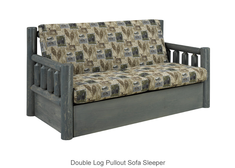 Double Log Pullout Sofa Sleeper