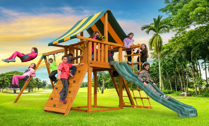 Dream outdoor playground swing set Canada kids jungle gym