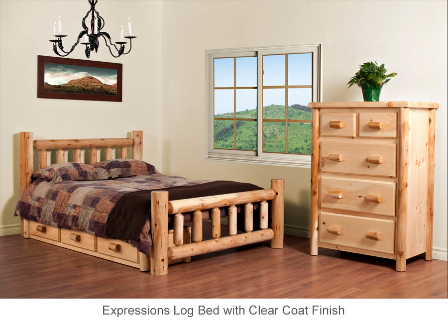 Expressions Log Bed Collection for Cottage in all sizes