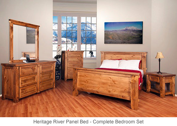 Heritage River Panel Bed for country cottage or cabin