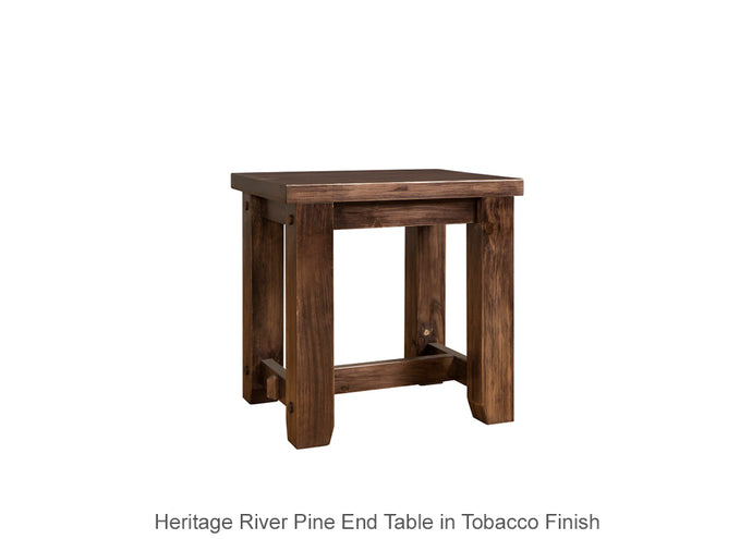 Heritage River Pine End Table