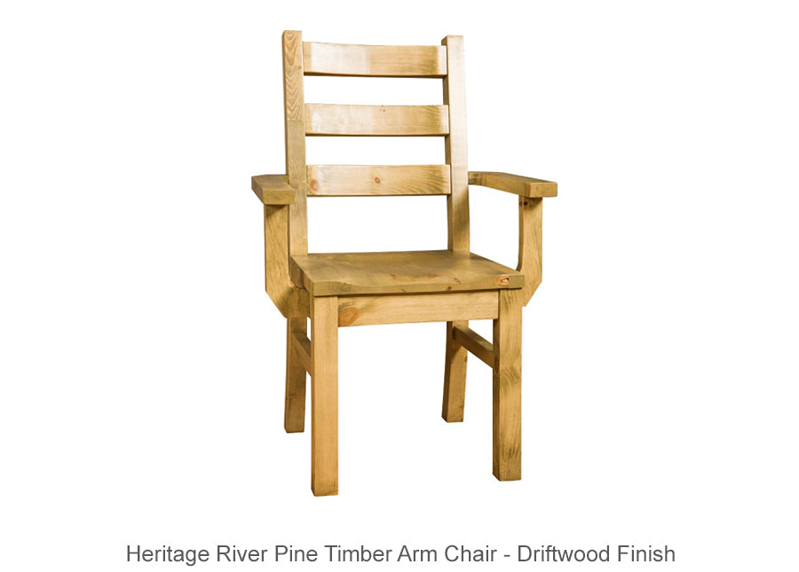 Heritage River Pine Timber Arm Chair