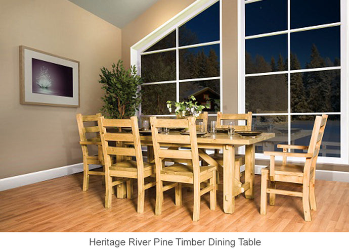 Heritage River Pine Timber Dining Table