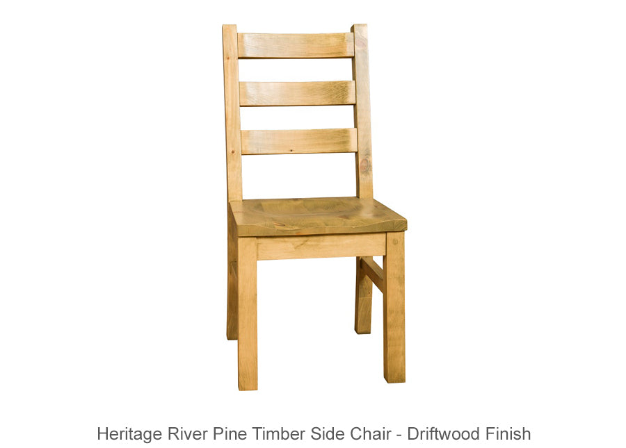 Heritage River Pine Timber Side Chair