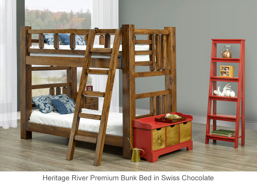 Heritage River Premium Bunk Bed for cottage or home