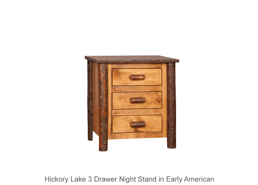 Hickory Lake 3 Drawer Night Stand