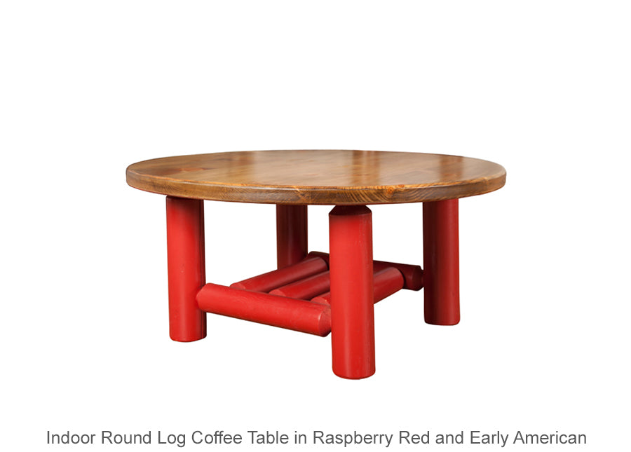 Log Round Coffee Table