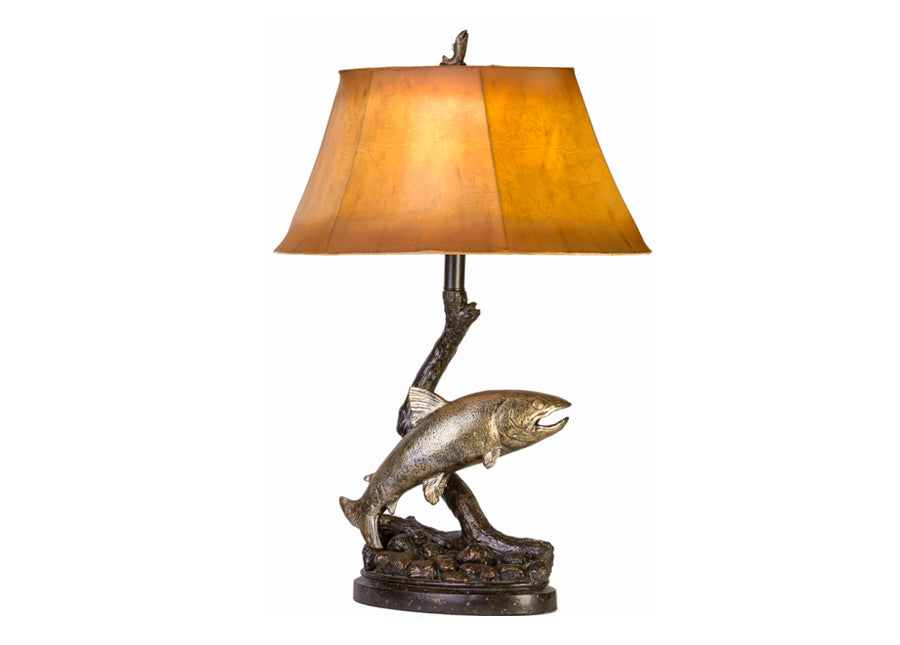 Jumping Trout Table Lamp