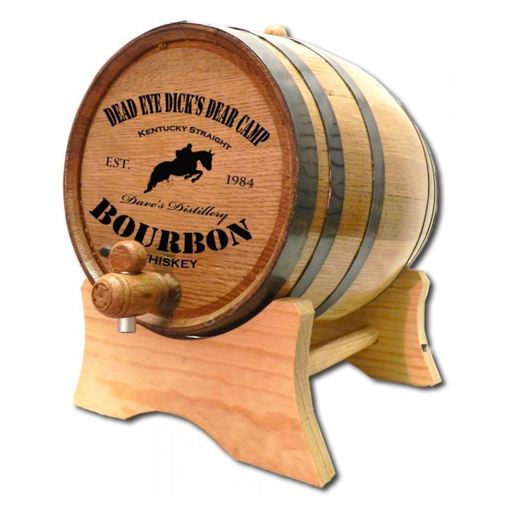 Kentucky Bourbon Personalized Oak Barrel