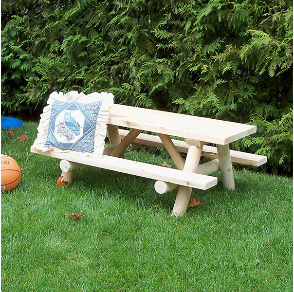 Kids Log Picnic Table