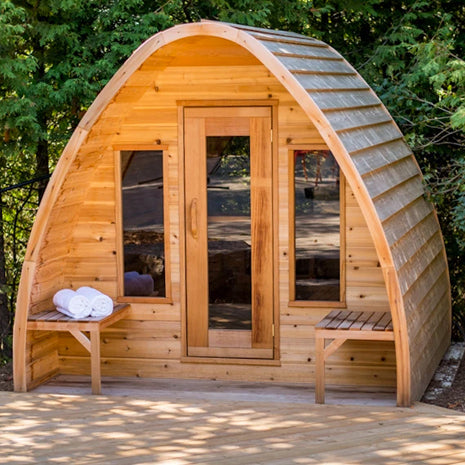 Knotty Red Cedar POD Sauna 8' x 6'