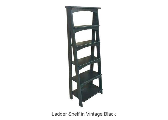 Ladder Shelf in Vintage Black