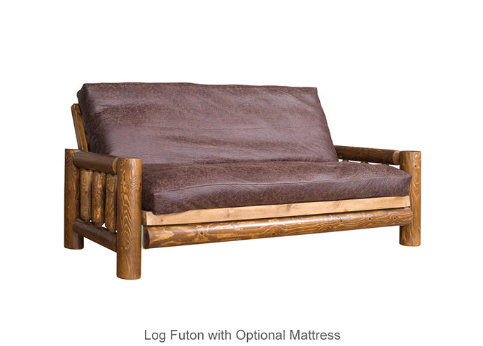 Log Futon with Optional Mattress
