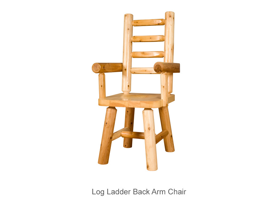Log Ladder Back Arm Chair