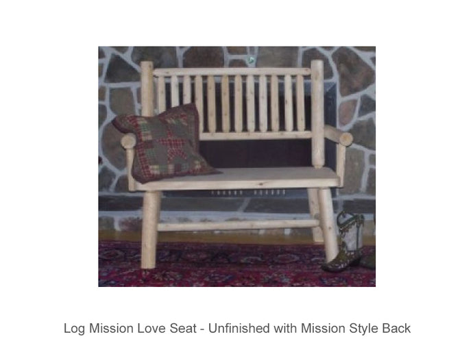 Log Mission Love Seat