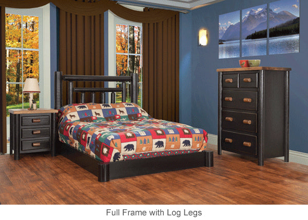 Low Profile Log Bed Frame great for cottages