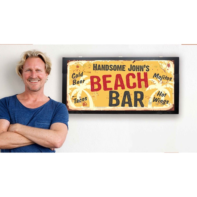 bar sign with storage
