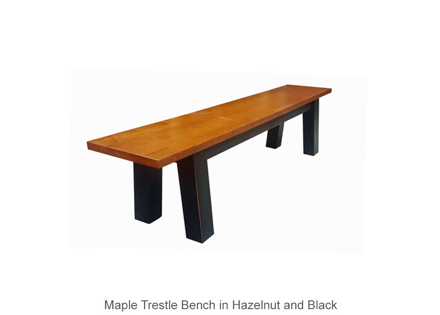 Maple Trestle Dining Bench