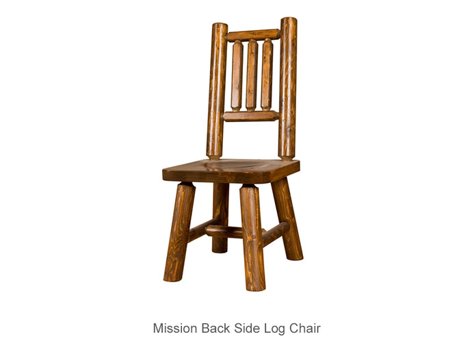 Mission Back Side Log Chair