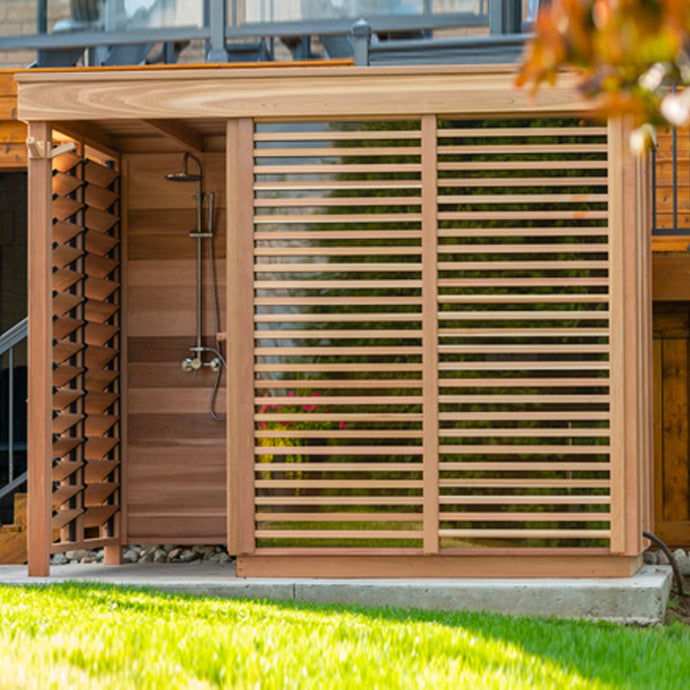 Modern Box OUTDOOR Sauna with Shower