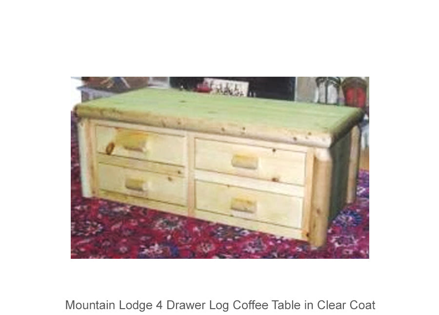 Mountain Lodge 4 Drawer Log Coffee Table