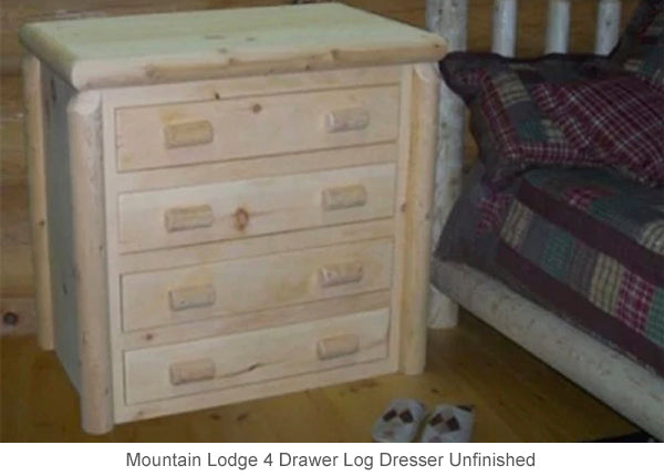 Mountain Lodge 4 Drawer Log Dresser