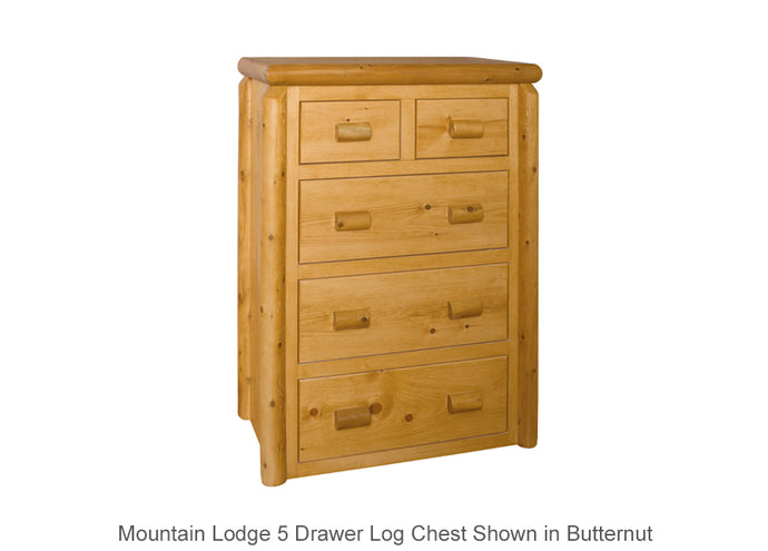 Mountain Lodge 5 Drawer Log Chest
