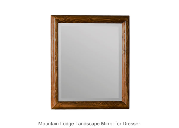 Mountain Lodge Landscape Mirror for Dresser