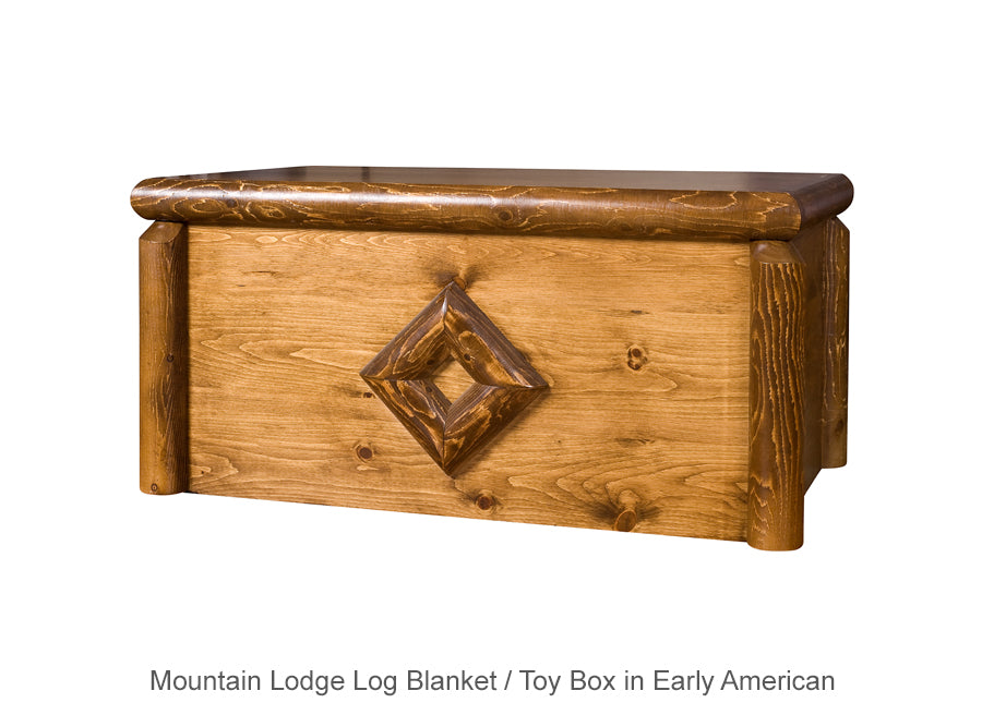 Mountain Lodge Log Blanket / Toy Box