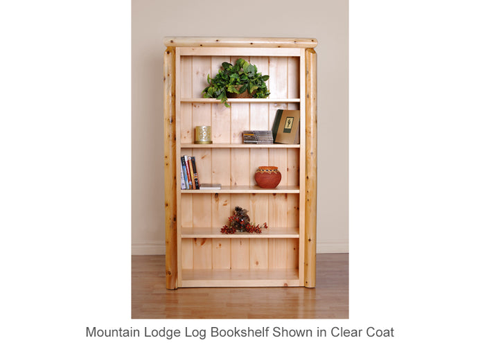 Mountain Lodge Log Bookshelf