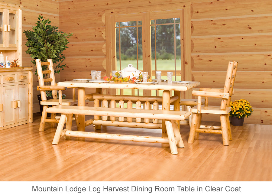 Mountain Lodge Log Harvest Dining Room Table