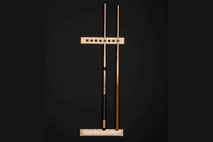 Log 2 piece wall cue rack
