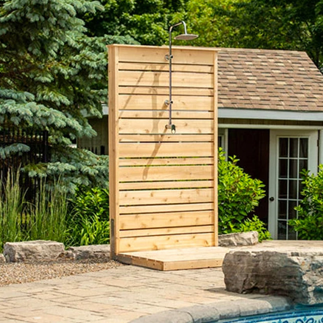 Outdoor Savannah White Cedar Shower