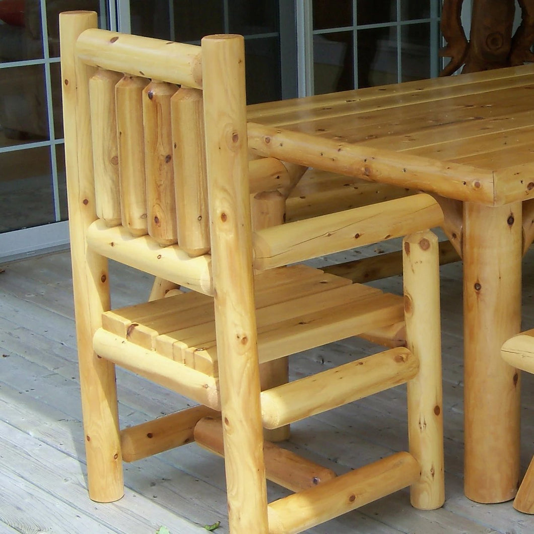 Outdoor Dining Log Arm Chair