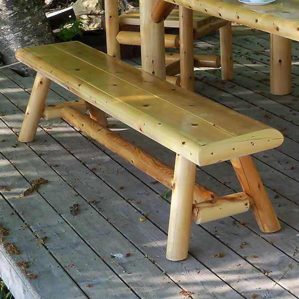 Outdoor Log Bench is great for outdoors