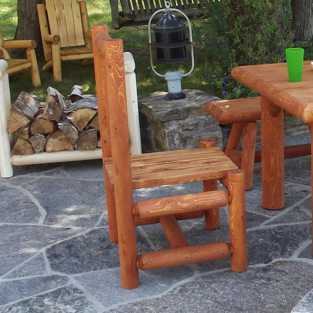 Outdoor Log Dining Side Chair