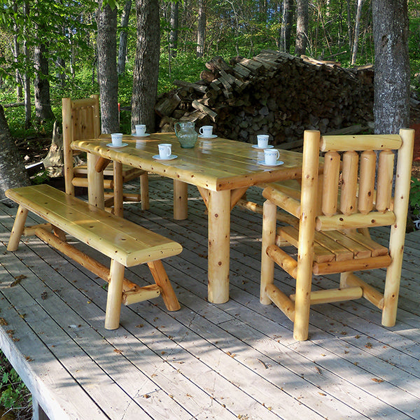 Outdoor Log Dining Table
