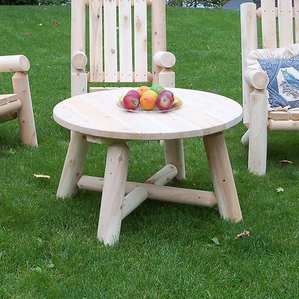 Outdoor Round Log Coffee Table