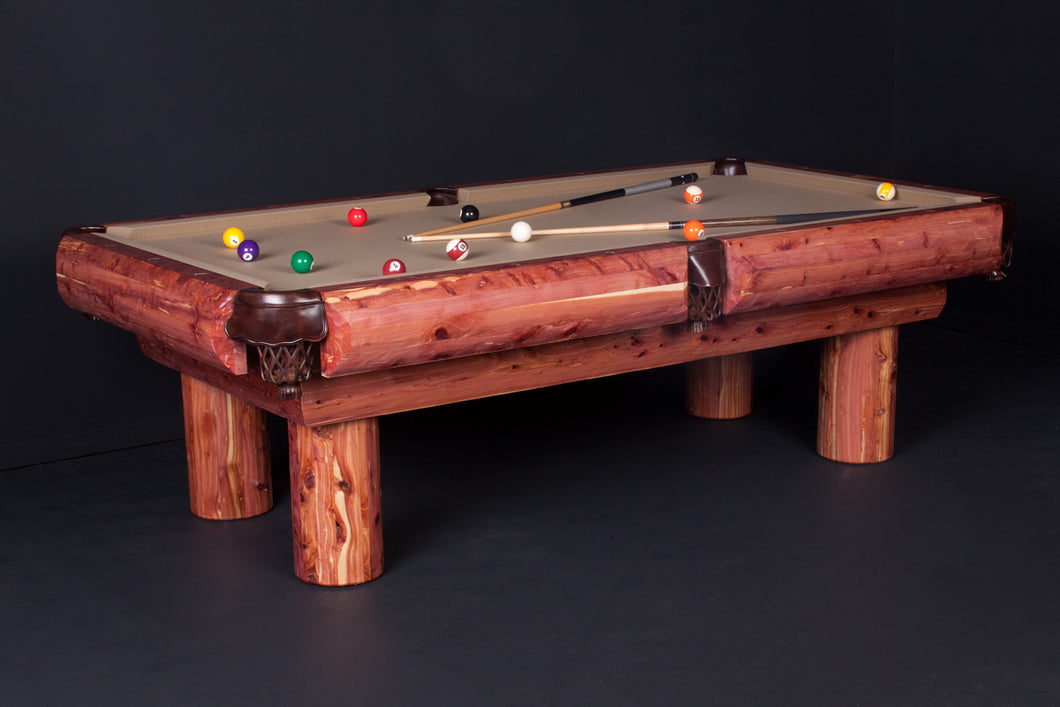 Red Cedar Log Pool Table