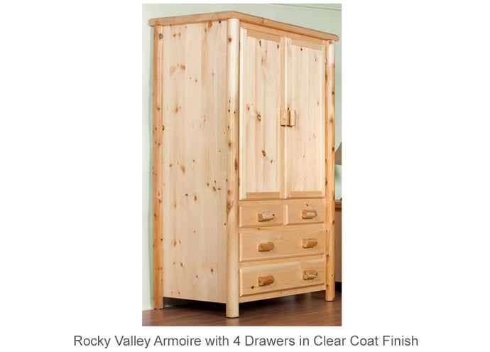 Rocky Valley Armoire with 4 Drawers
