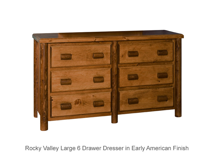 Rocky Valley Large 6 Drawer Dresser