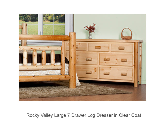 Rocky Valley Large 7 Drawer Log Dresser