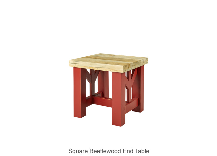 Square Beetlewood End Table