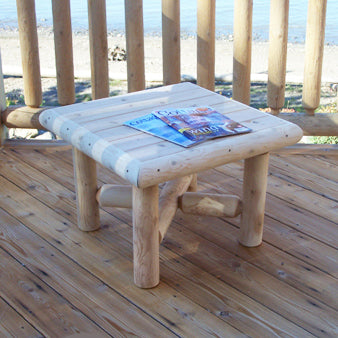 Square Log End Table
