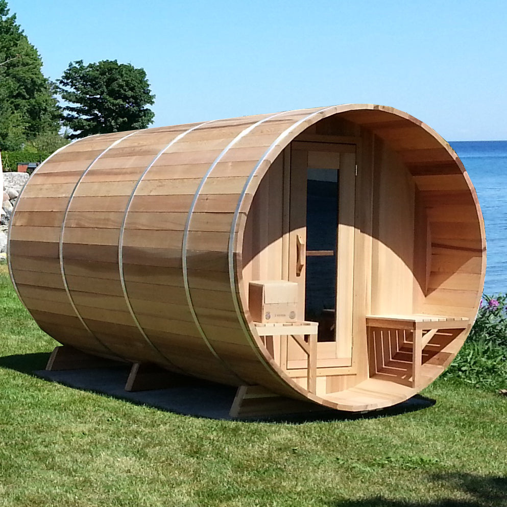 The Lakeview Sauna 7' Dia x 8' Long